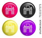 desk multi color glossy badge...