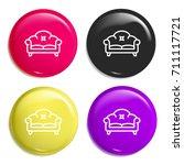 sofa multi color glossy badge...