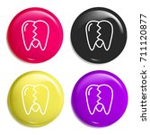 tooth multi color glossy badge...