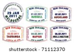 vector stylised passport stamps ... | Shutterstock .eps vector #71112370