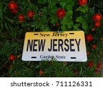 garden state license plate in... | Shutterstock . vector #711126331