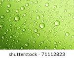 Water Drops Over Green.closeup