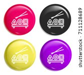 sushi multi color glossy badge...