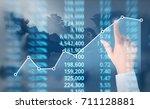 analysing illustrated chart... | Shutterstock . vector #711128881