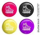 roller skate multi color glossy ...