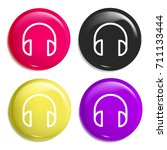 headphones multi color glossy...
