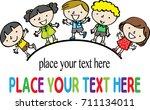 school kids background design | Shutterstock .eps vector #711134011