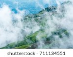 beautiful fog on the hill tribe ... | Shutterstock . vector #711134551