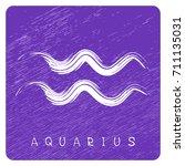 zodiac sign aquarius isolated... | Shutterstock . vector #711135031