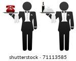 butler servant or room service... | Shutterstock .eps vector #71113585