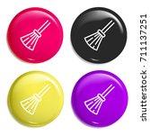 broom multi color glossy badge...