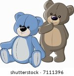 teddy bears | Shutterstock .eps vector #7111396