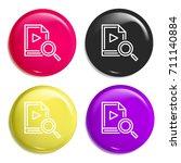 video multi color glossy badge...