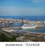 Barcelona And Port Port Vell...