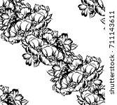 abstract elegance seamless... | Shutterstock . vector #711143611