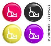 ramp multi color glossy badge...