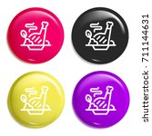 meat multi color glossy badge...