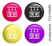 bar multi color glossy badge...