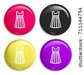 dress multi color glossy badge...