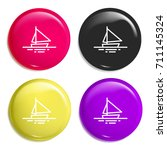 yacht multi color glossy badge...