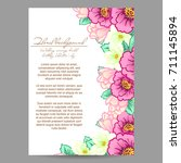 invitation with floral... | Shutterstock .eps vector #711145894