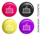 cake multi color glossy badge...   Shutterstock .eps vector #711146761