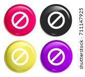 forbidden sign multi color...