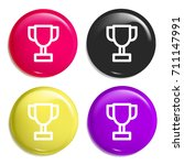cup multi color glossy badge...