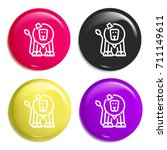 circus lion multi color glossy...