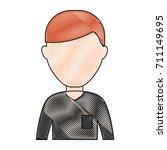 avatar man icon   Shutterstock .eps vector #711149695