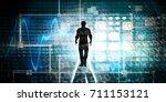 digital literacy as a... | Shutterstock . vector #711153121