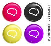 brain multi color glossy badge...