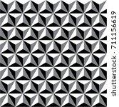 triangle monochrome pattern. 3d.