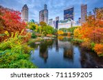 Central Park During Autumn In...