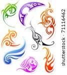 set of various tribal styles | Shutterstock .eps vector #71116462