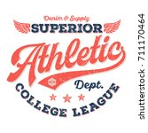 athletic dept.  college league  ... | Shutterstock .eps vector #711170464