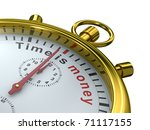 Time Is Money. Stopwatch On...