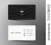 modern business card template... | Shutterstock .eps vector #711178015