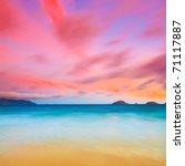 sunrise over the sea. con dao.... | Shutterstock . vector #71117887