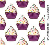 Cupcake Seamless Pattern....