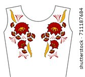 Neck Flower Embroidery Pattern...
