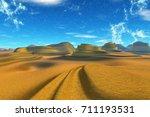 landscape of stranger planet.... | Shutterstock . vector #711193531