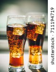 beautiful cold drink of cola... | Shutterstock . vector #711194719