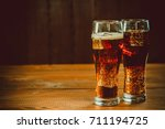 beautiful cold fizzy cola soda... | Shutterstock . vector #711194725