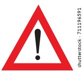 red warning exclamation point... | Shutterstock .eps vector #711196591