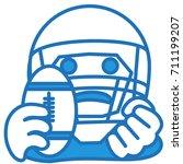 emoji with american football...