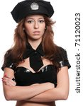 young beautiful police woman... | Shutterstock . vector #71120023
