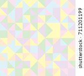 pastel square triangle pattern  ... | Shutterstock .eps vector #711201199