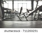 fitness gym background.focus on ... | Shutterstock . vector #711203251