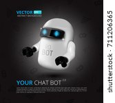 chat bot  the concept of... | Shutterstock .eps vector #711206365